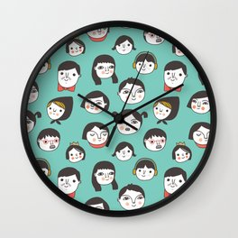 Pattern Project #1 / Faces Wall Clock
