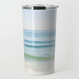 Ocean Seascape Photography, Blue Sea Landscape, Beach Waves Coastal, Seashore Horizon Travel Mug