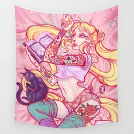 Solitary Moon Wall Tapestry