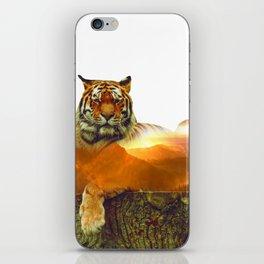 Tiger Double Exposure iPhone Skin