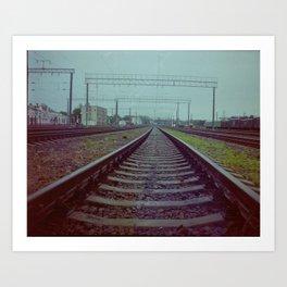 Railroad. Russia. Art Print