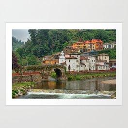 Stone Bridge Asturias Spain Art Print