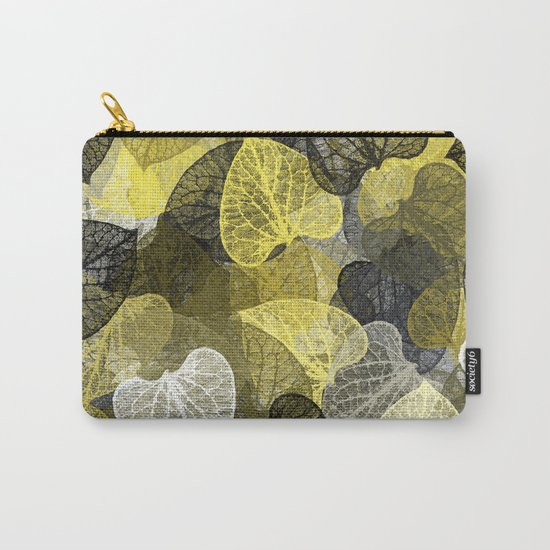 Black & Gold Leaf Abstract Carry-All Pouch