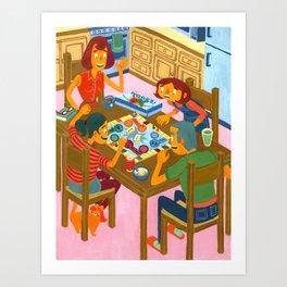 Family Night Art Print