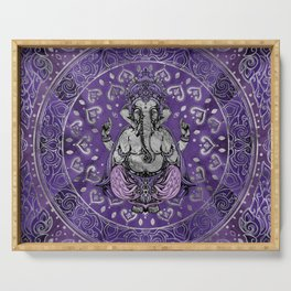 Ganesha - silver and purples Serving Tray