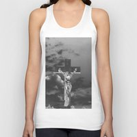 christ Tank Tops featuring Jesus Christ by Kook Berry