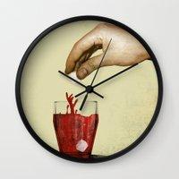 tea Wall Clocks featuring Tea by gazonula