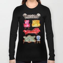 Victorian Lounge – Rainbow Palette Long Sleeve T-shirt