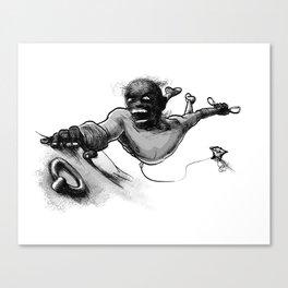 Climbing zombie Canvas Print