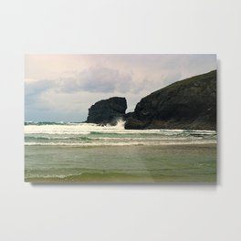 """Bedruthan Beach (ii)"" by ICA PAVON Metal Print"