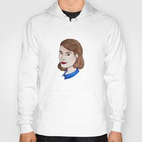 peggy carter Hoodies featuring Watercolour Peggy Carter by HayPaige