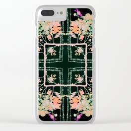 Neon Mirrored Trees 5 Clear iPhone Case