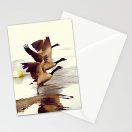 The Take Off - Wild Geese Stationery Cards