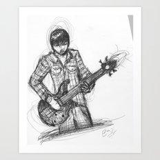 the player Art Print