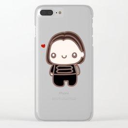Bucky Heart Clear iPhone Case