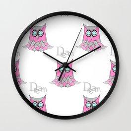 Dream Owl Pattern Wall Clock