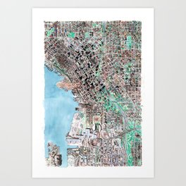 The Seattle Doomsday Map Art Print