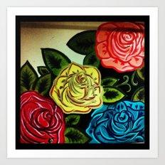 Rose Mural (Part One) Art Print