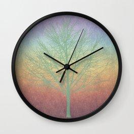 Green grunge tree Wall Clock