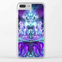 Expanding horizons - Visionary - Fractal - Manafold Art Clear iPhone Case
