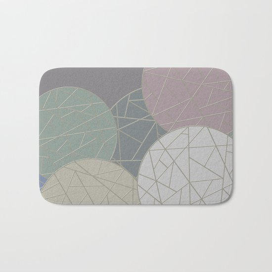 THE WORLD IS ROUND (abstract) Bath Mat