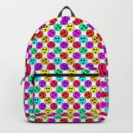 Mini Smiley Bikini Bright Neon Smiles on White Backpack