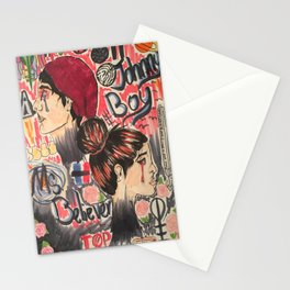 Johnny Boy and Miss Believer Stationery Cards