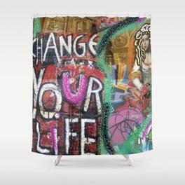 pop art grafitti Shower Curtain
