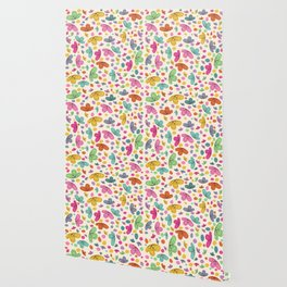 Summer Colorful Flowers Abstract Illustration Wallpaper