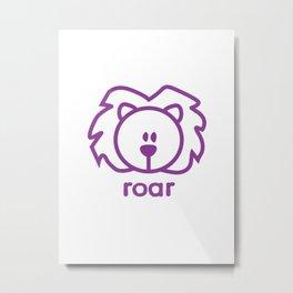 Lion : roar Metal Print