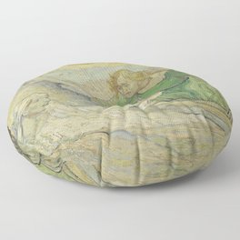 The Raising of Lazarus (after Rembrandt) Floor Pillow