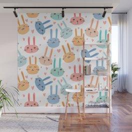 Funny Bunnies Wall Mural