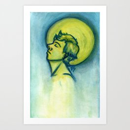 Moon Halo Art Print
