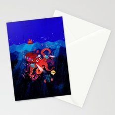 Octo-bus to happyland Stationery Cards