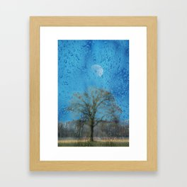 Concept landscape : The lonely tree Framed Art Print