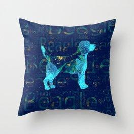Decorative Beagle  dog Throw Pillow