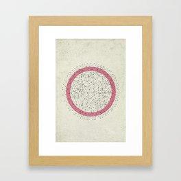Circle dots Framed Art Print