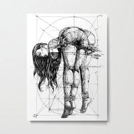 Lady on Table. Workbench. Yury Fadeev. Metal Print