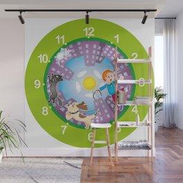 Kid's clock Wall Mural