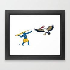 Warriors vs Pelicans Framed Art Print