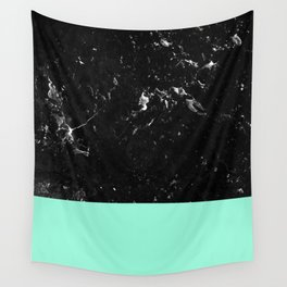 Mint Meets Black Marble #1 #decor #art #society6 Wall Tapestry