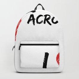I Love Acrobatics Backpack
