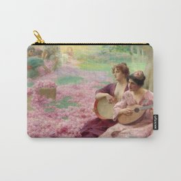 "Classical Masterpiece ""The Rose Festival"" by Henry Siddons Mowbray Carry-All Pouch"