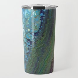 Age And Beauty - Original, abstract, fluid, marbled painting Travel Mug