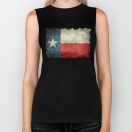 Texas State Flag, Retro Style Biker Tank