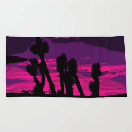 Joshua Sunset  Beach Towel