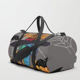 Bats & Witch Happy Halloween Duffle Bag
