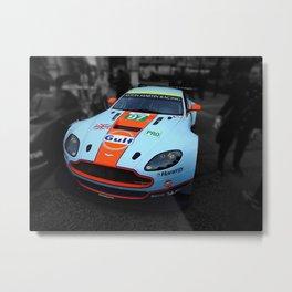 Aston Martin GT Gulf Splash Metal Print