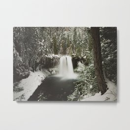 Winter Wanderlust Waterfall Metal Print