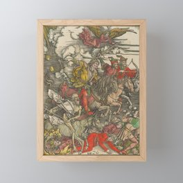 Albrecht Dürer - The Apocalypse (1498) - The Four Horsemen of the Apocalypse Framed Mini Art Print